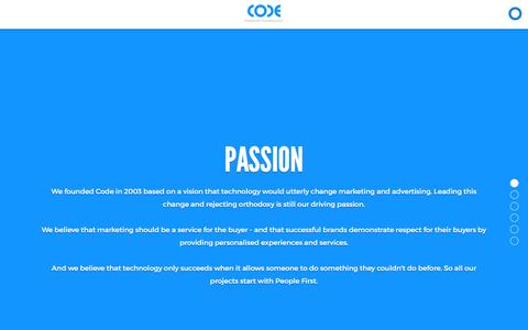 Screenshot of Team Page codeworldwide.com - How we work - captured July 14, 2016