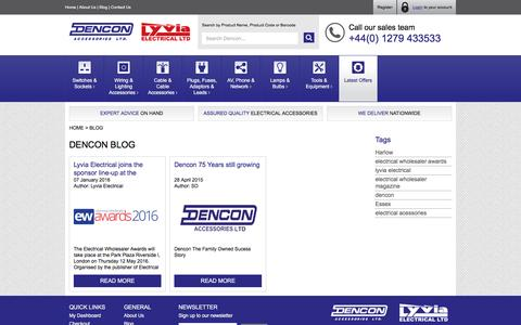 Screenshot of Blog dencon.co.uk - Dencon Accessories - Blog - captured Feb. 9, 2016
