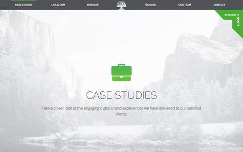 Screenshot of Case Studies Page limusdesign.com - Case Studies - captured Aug. 14, 2017