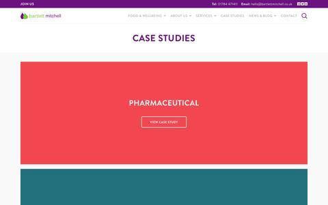 Screenshot of Case Studies Page bartlettmitchell.co.uk - Case studies - bartlett mitchell - captured July 31, 2016