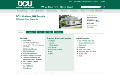 DCU Branch Location in Hudson | New Hampshire