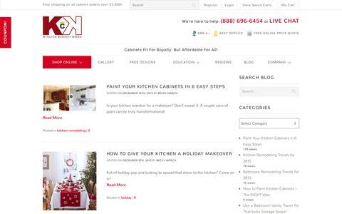 Screenshot of Blog kitchencabinetkings.com - Kitchen & Bathroom Remodeling Blog by Kitchen Cabinet Kings - captured Dec. 21, 2015