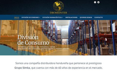 Screenshot of Home Page dromeinter.com - DROMEINTER   Drogueria Medica Internacional S.A de C.V. - Honduras - captured Feb. 9, 2016