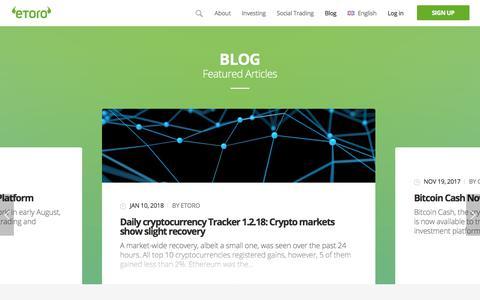 Screenshot of Blog etoro.com - Blog - | eToro - captured Feb. 4, 2018