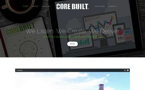 Screenshot of Home Page corebuiltus.com - Core Built LLC - captured Oct. 3, 2014