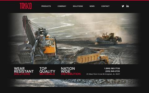 Screenshot of Home Page tassco.com - Tassco Steel - captured Oct. 7, 2014