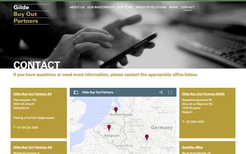 Screenshot of Contact Page gilde.com - Contact Gilde ≡ Gilde Buy Out Partners - captured Jan. 28, 2016