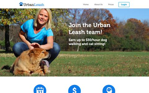 Screenshot of Jobs Page urbanleash.com - Dog Walking and Cat Sitting in Chicago - captured Oct. 20, 2018