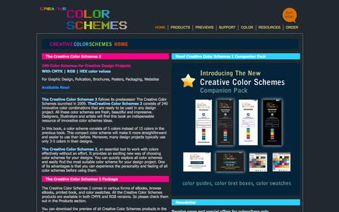 Screenshot of Home Page creativecolorschemes.com - Great Color Schemes | Good Color Combinations | Cool Color Palettes for print and web site - captured Sept. 23, 2014