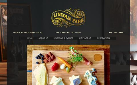 Screenshot of Home Page lincolnparkwine.com - Lincoln Park Wine Bar - captured Jan. 30, 2016