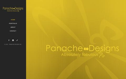 Screenshot of Home Page panachedesignsinc.com - Panache Designs Inc – Absolutely Fabulous - captured Oct. 20, 2016