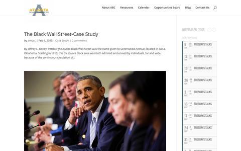 Screenshot of Case Studies Page ambcc.org - Case Study | Atlanta Metropolitan Black Chamber of Commerce - captured Nov. 21, 2016