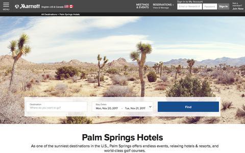 Top Hotels in Palm Springs | Marriott Palm Springs Hotels