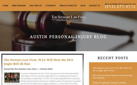 Screenshot of Blog thestewartlawfirm.net - Austin Personal Injury Lawyer Blog | Austin Wrongful Death Lawyer - captured Dec. 5, 2015