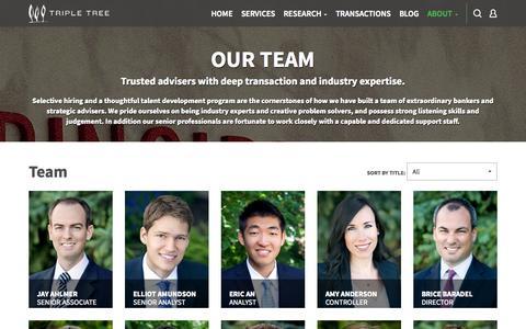 Screenshot of Team Page triple-tree.com - Minneapolis Investment Bank Advisors | TripleTree - captured Oct. 28, 2014