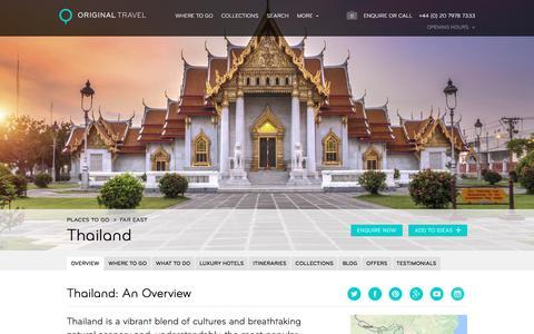 Luxury Holidays Thailand | Breath-taking Natural Scenery