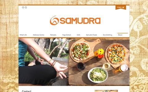Screenshot of Contact Page samudra.com.au - Contact | Samudra - captured Sept. 30, 2014