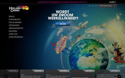 Screenshot of Home Page hollandcasino.nl - Holland Casino - captured Sept. 19, 2014