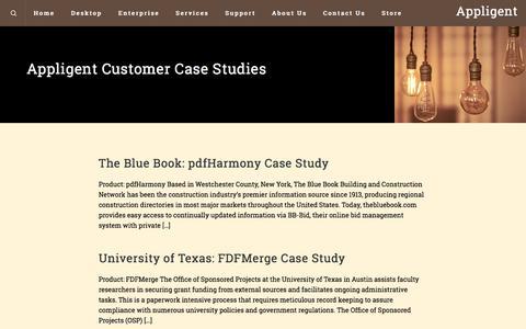 Screenshot of Case Studies Page appligent.com - Case Studies – Appligent - captured July 30, 2018