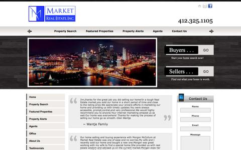 Screenshot of Testimonials Page marketpittsburgh.com - Market Real Estate, Inc. - captured Feb. 4, 2016