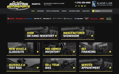 Screenshot of Home Page mmsmarietta.com - Mountain Motorsports - Marietta - Located in Marietta, GA - Powersports Dealership with Parts, Service and Financing - captured Jan. 10, 2018