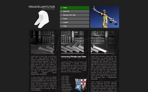 Screenshot of Home Page privatelawtutor.co.uk - Law Tutors | London Law Tuition | Private Law Tutor - captured Oct. 2, 2014