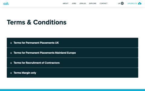 Screenshot of Terms Page welovesalt.com - Terms & Conditions   We Love Salt - UK - captured Sept. 30, 2018