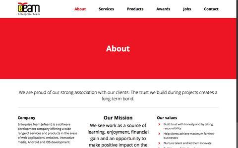 Screenshot of About Page eteamid.com - eTeam   Company   Enterprise Team (eTeam) Software Development & Outsourcing Services - captured Nov. 8, 2016