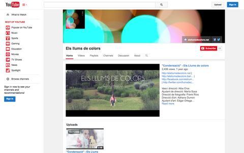 Screenshot of YouTube Page youtube.com - Els llums de colors  - YouTube - captured Oct. 22, 2014