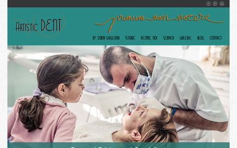 Screenshot of Home Page artistic-dent.ro - Clinica Stomatologica Bucuresti | Artistic Dent - captured June 20, 2015