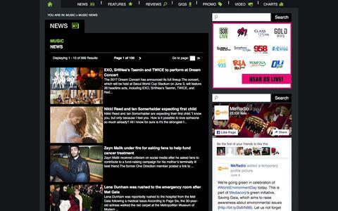 Screenshot of Press Page meradio.sg - MeRadio - Music News - captured July 23, 2017