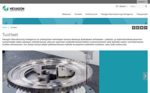 Screenshot of Products Page hexagonmi.com - Tuotteet | Hexagon Manufacturing Intelligence - captured Oct. 21, 2018