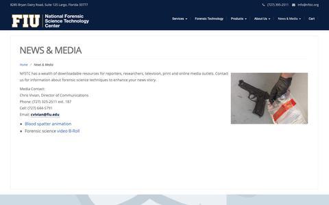 Screenshot of Press Page nfstc.org - News & Media – NFSTC@FIU - captured Oct. 18, 2018