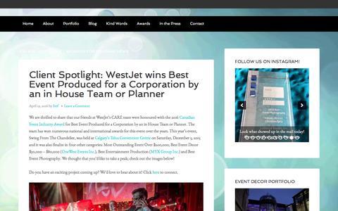Screenshot of Press Page leblondstudio.com - Company News – - captured Nov. 5, 2016