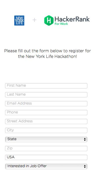 New York Life - Hackathon Registration