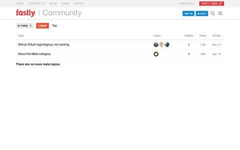 Latest meta topics - Fastly's Community