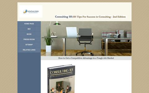 Screenshot of Home Page consulting101book.com - Consulting 101 - captured Sept. 18, 2015