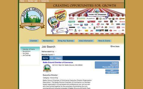 Screenshot of Jobs Page battlegroundchamber.org - Job Search - Battle Ground Chamber of Commerce, WA - captured Nov. 22, 2016
