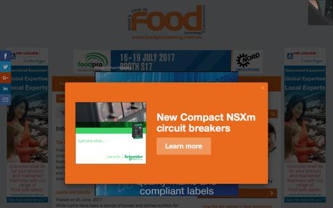 Screenshot of Press Page foodprocessing.com.au - Industry News :: FoodProcessing - captured June 6, 2017