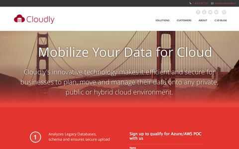 Screenshot of Signup Page cloudly.io - Alfresco | CloudlyIO, Inc. - captured Nov. 2, 2014