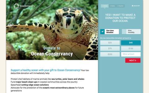 Screenshot of Landing Page oceanconservancy.org - Ocean Conservancy - captured May 31, 2017