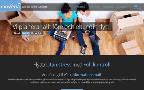 Screenshot of Home Page moveria.se - Moveria.se | Alla flyttips du behöver - Moveria.se - captured Feb. 16, 2016