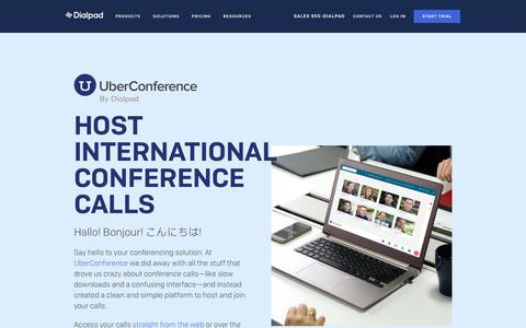 International Calling with UberConference | Dialpad