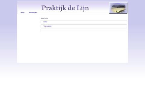 Screenshot of Site Map Page Menu Page delijn.info - Map - captured Oct. 23, 2014