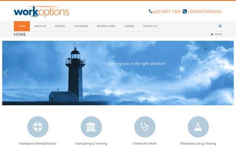 Screenshot of Home Page workoptions.com.au - Work Options > Home - captured Nov. 12, 2017
