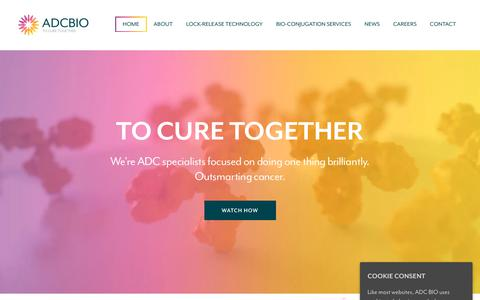 Screenshot of Home Page adcbio.com - ADC BIO - To Cure Together - captured Oct. 2, 2018