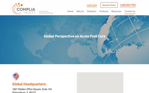 Screenshot of Locations Page compliahealth.com - Locations   Complia Health - captured June 9, 2019