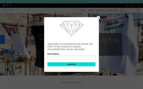 Screenshot of Home Page diamondsupplyco.com - Diamond Supply Co. - captured May 18, 2018