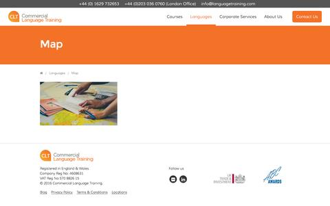 Screenshot of Maps & Directions Page languagetraining.com - Map - Commercial Language Training - captured Nov. 9, 2016