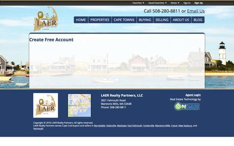 Screenshot of Signup Page Login Page realestatecapecod.com - Signup - captured Jan. 27, 2016